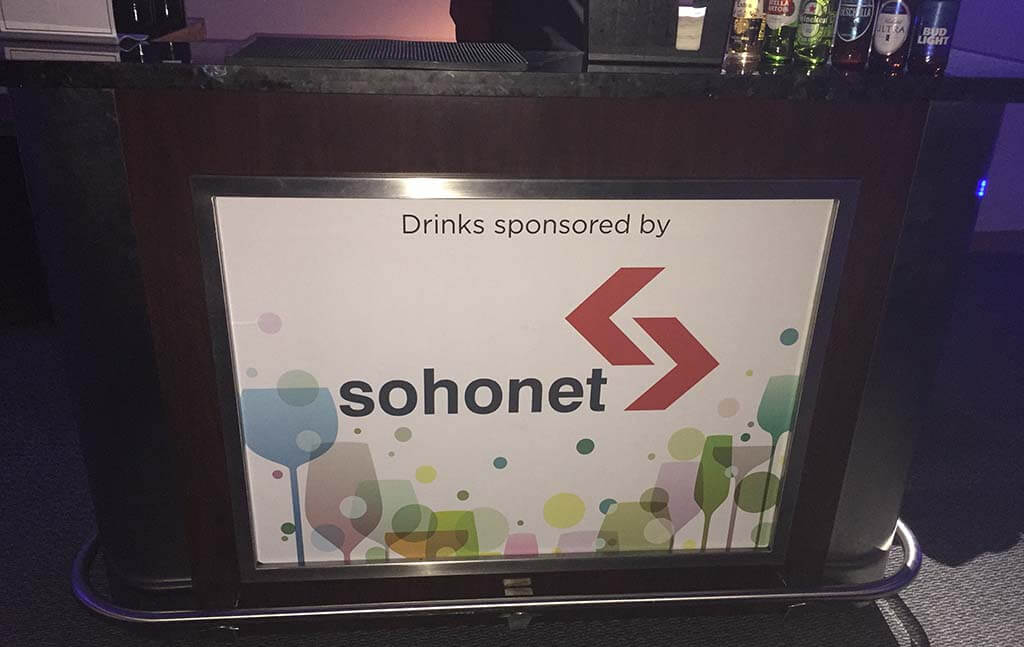 Sohonet Sponsored Drinks HPA Tech Retreat 2018
